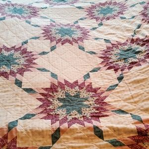 Store bought Bohemian Vintage star Quilt